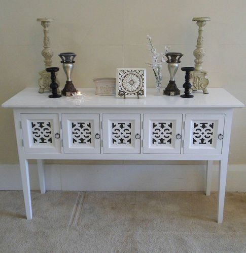 Enjoyable French Provincial White Hall Table Long Hamptons Style Pdpeps Interior Chair Design Pdpepsorg