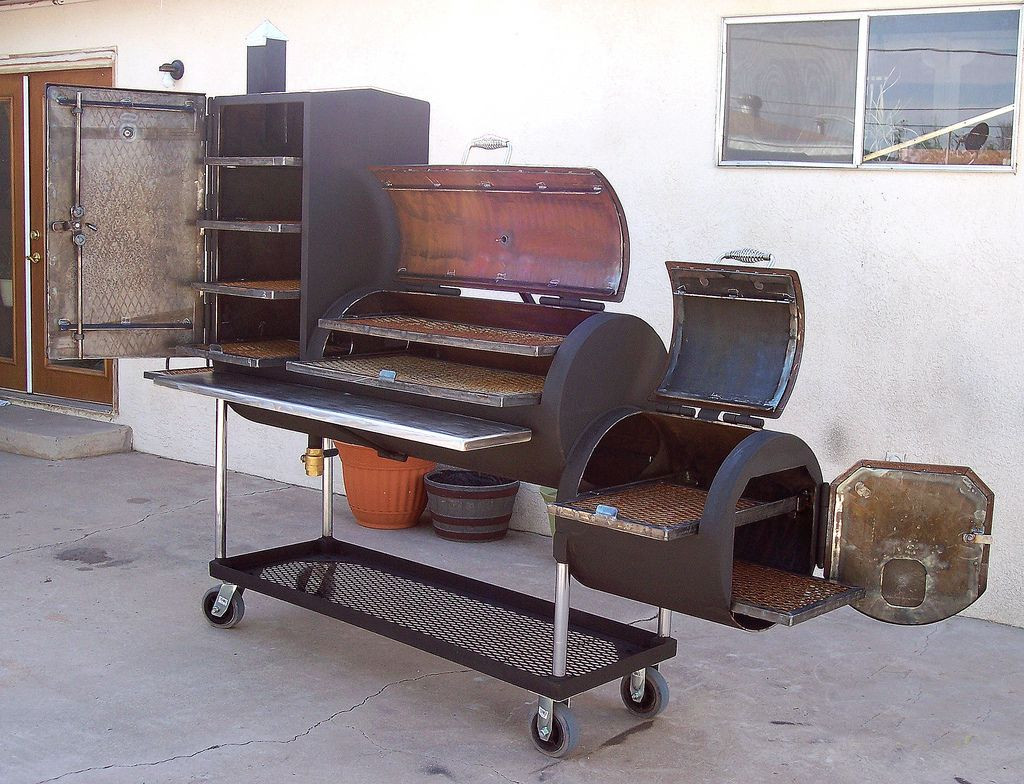 Bbq pit by d tanner custom bbq pits grilling and grills for Bbq designs and plans