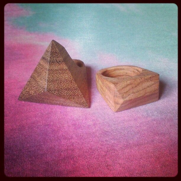 Handmade wooden rings