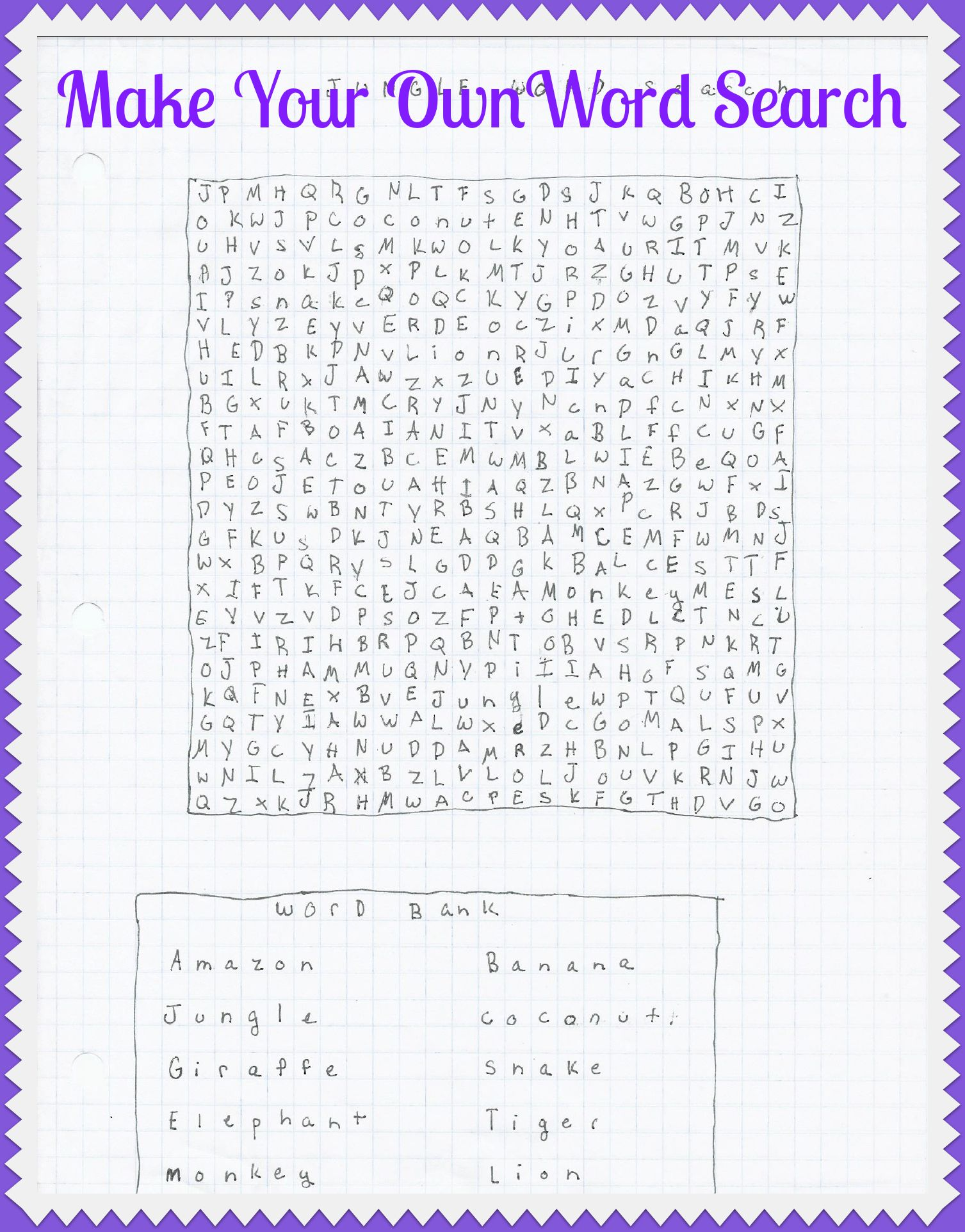 Printable Word Search