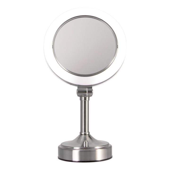 Pedestal Vanity Mirror Dual Sided 10x 1x Makeup Mirror With