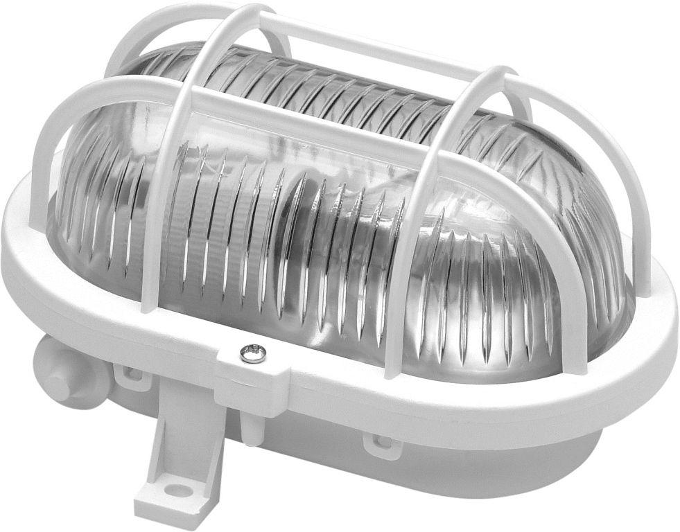 Hublot Ovale 60W Plastique Blanc Avec Grille Et Vitre De ...