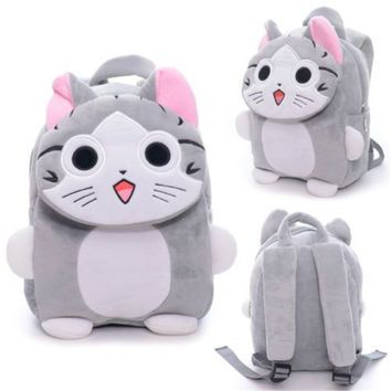 96d900b6ef Sweety Japan Chi s Cat Plush Kindgarden Kids Mini Tablet Shoulder Backpack  Flap Design School Bag 7 10   17 25cm New