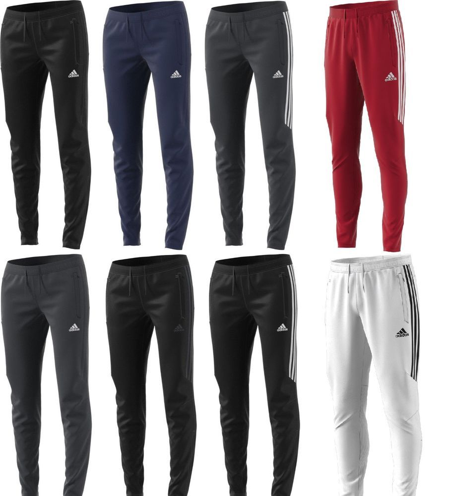 adidas Regular Tracksuit Bottoms Mens Gents Jersey Jogging Trousers Pants Cotton