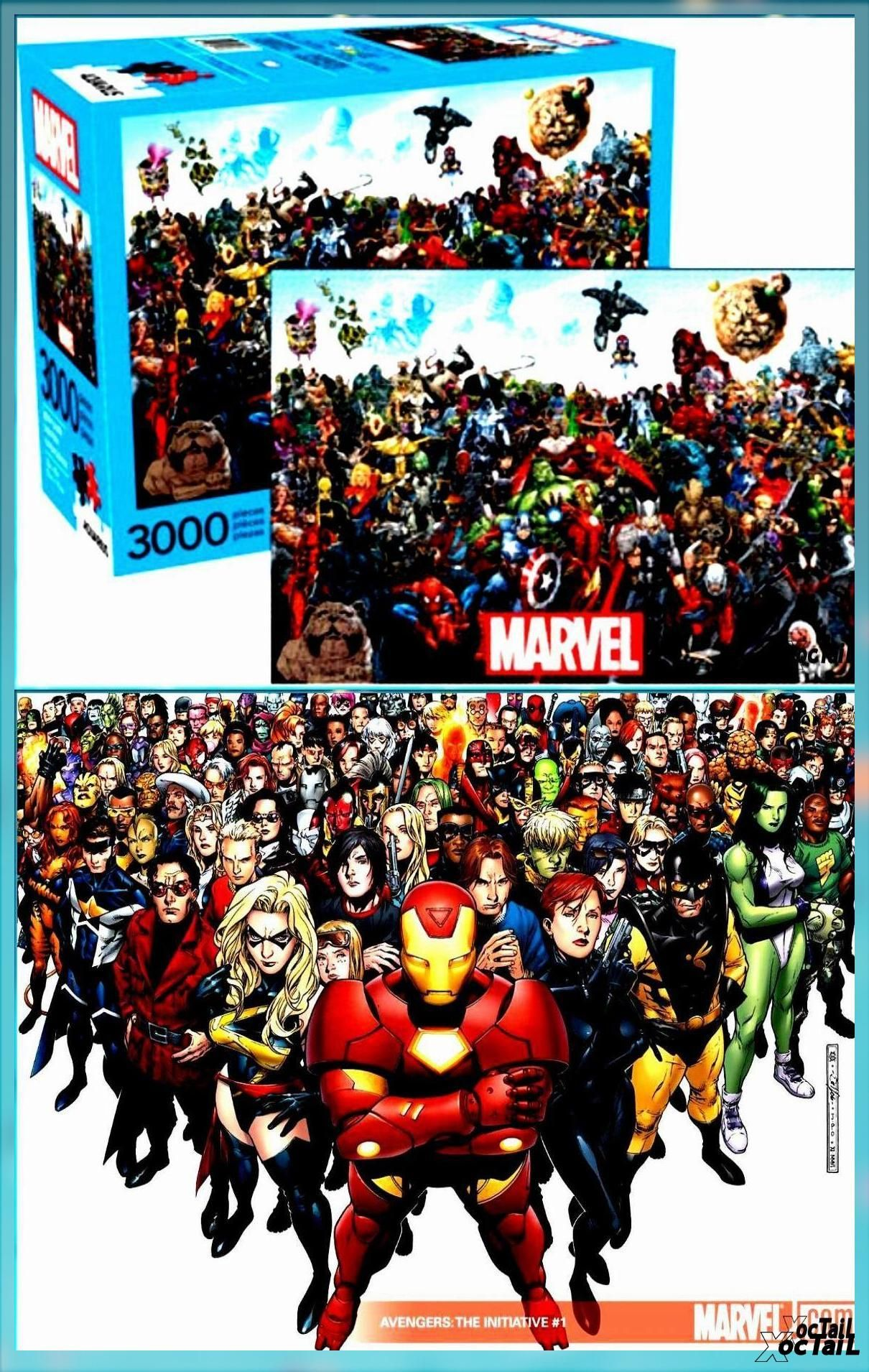 Photo of Marvel Comics Characters Collage Comic Art Collage 3000 Piece Jigsaw Puzzle  NEW…