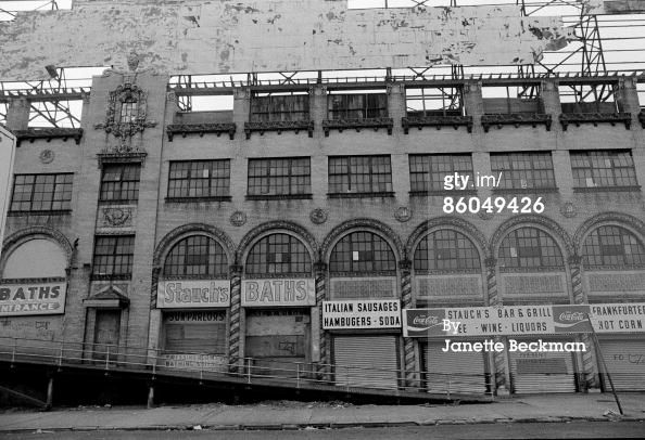 View Of A Massive Building That Formerly Housed Stauch S Baths And New York City Images Views