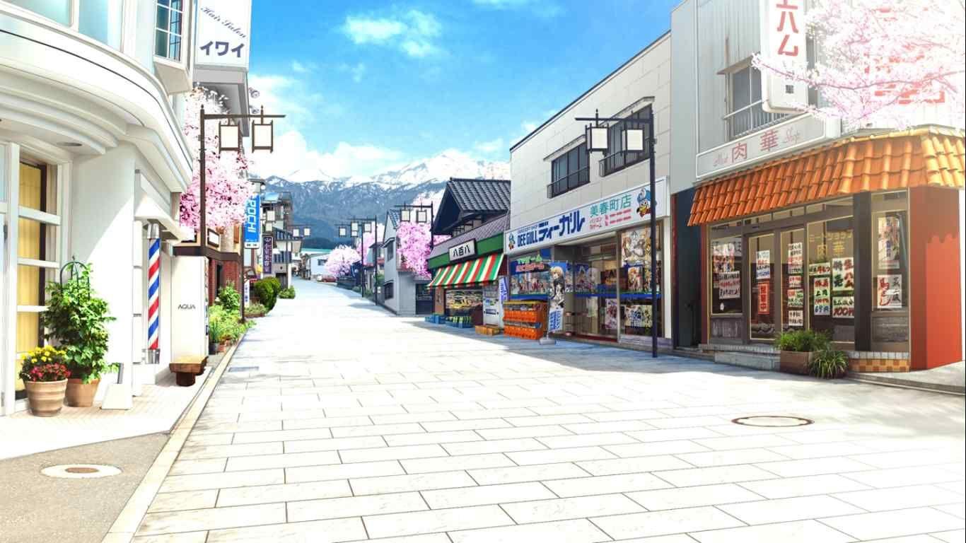 シーガル十日町店前の通り 山形市 さくら 咲きました 風景 聖地巡礼 巡礼
