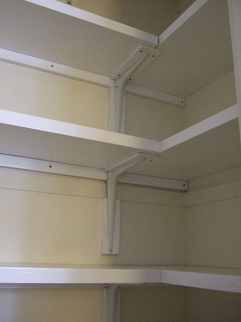 L Shaped Shelves Bracket Detail L Shaped Shelves Bedroom Organization Closet Small Closet Shelving