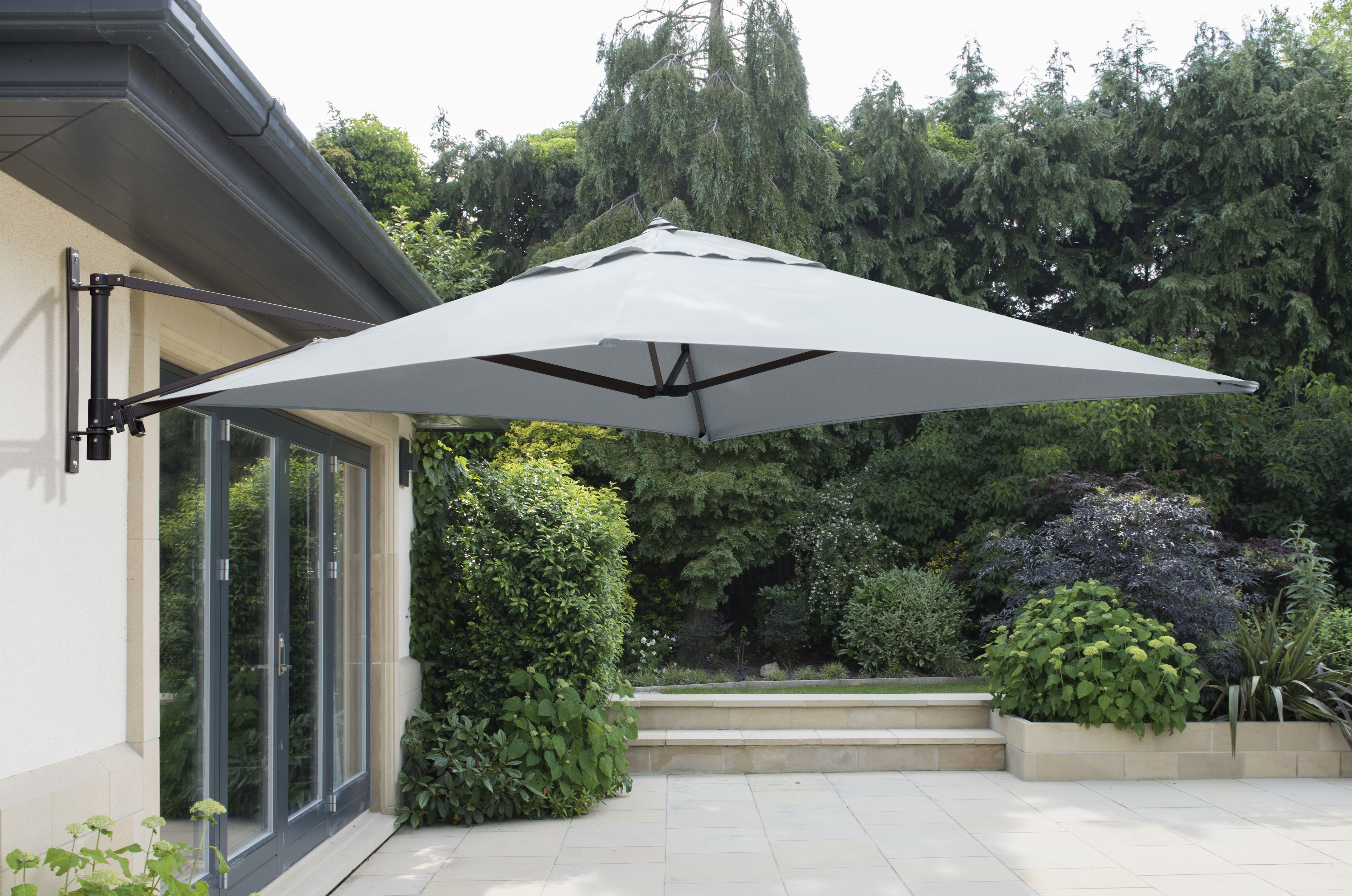 Wall Mounted 2 0m Square Cantilever Garden Parasol Patio Life Cantilever Parasol Garden Parasols Patio