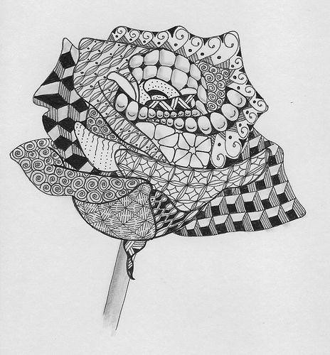 Ben Kwok Roses Template Zentangles