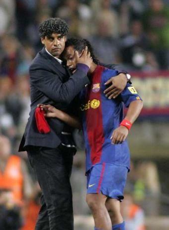 Rijkaard i Ronaldinho.