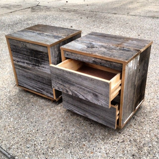Contemporary Reclaimed Wood Nightstand Furniture Designs