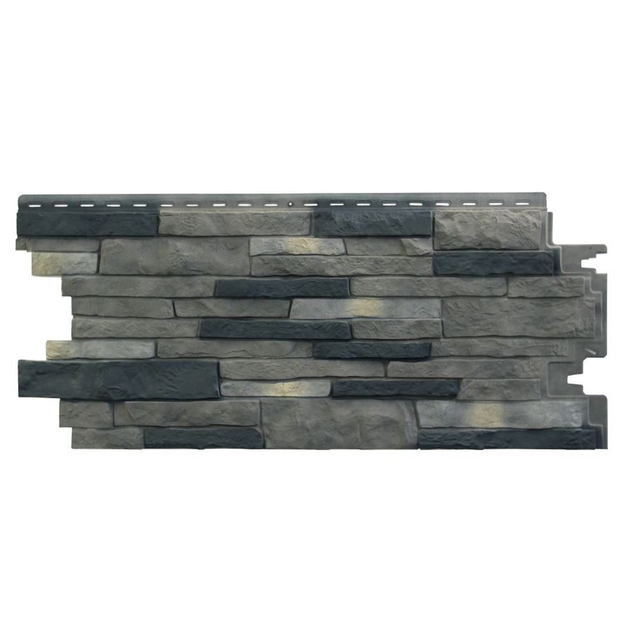 Exteria Building Products Stacked Stone Premium Lewiston Crest Faux Stone Veneer Split Level