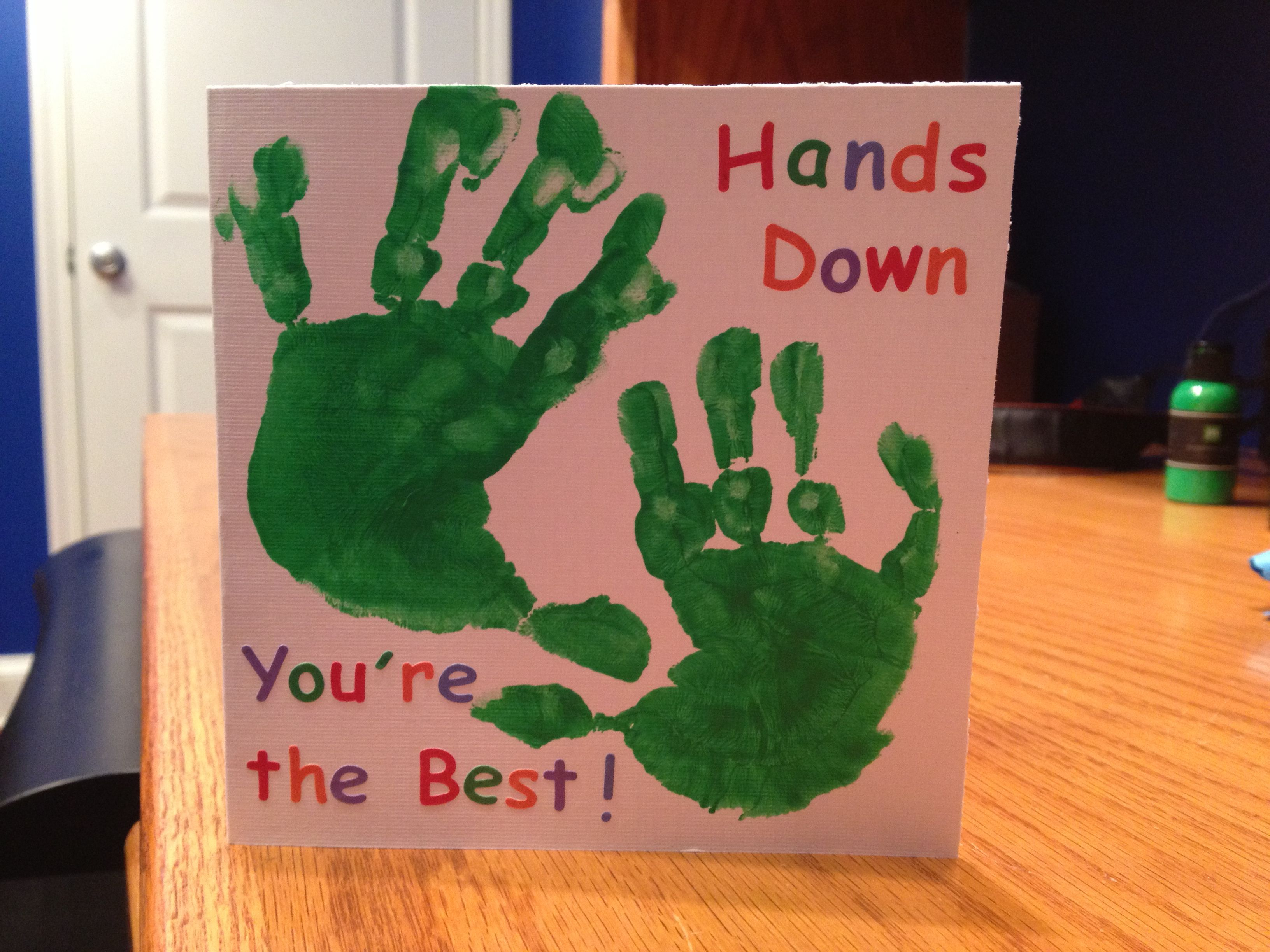 Handprint Card for Daddys Birthday Making Cards Ideas