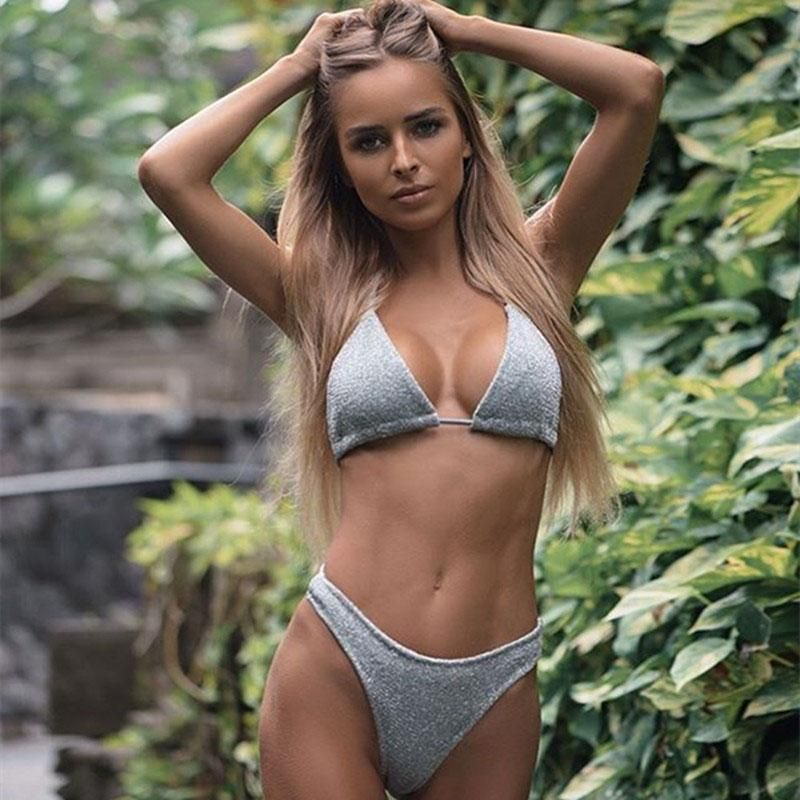 13498735595 2018 Sexy brazilian bikini solid Push Up swimwear micro bikini low waist thong  bikini bathing suit beach wear 2980