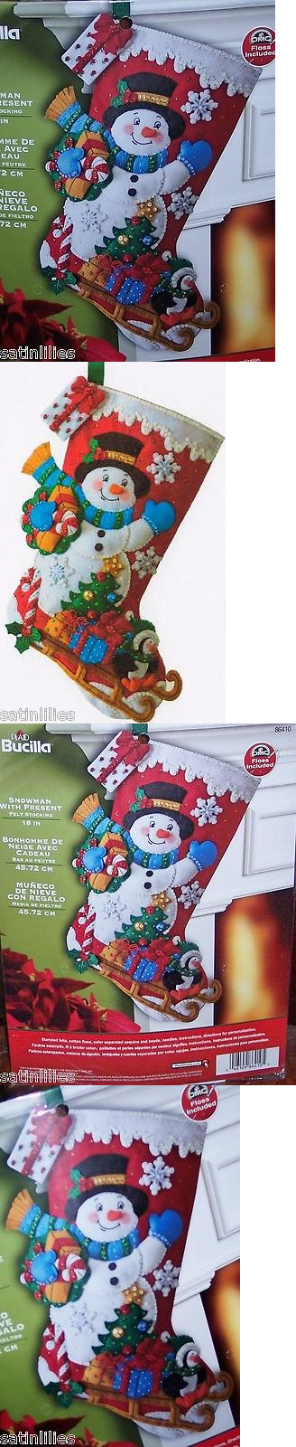 Other Hand Embroidery Kits 28142 Bucilla Snowman With Presents Felt