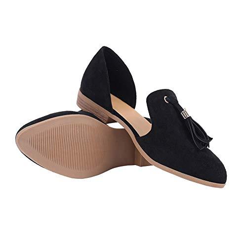 c10b261f8e21d Amazon.com   Sovelen Womens Flats Shoes Comfortable Slip On Pointed ...