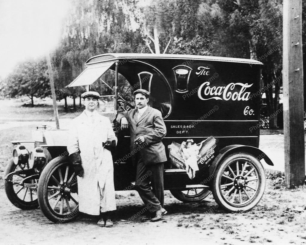 Coca Cola Soda Very Early Sales & Advertising Truck 8x10 Reprint Of ...