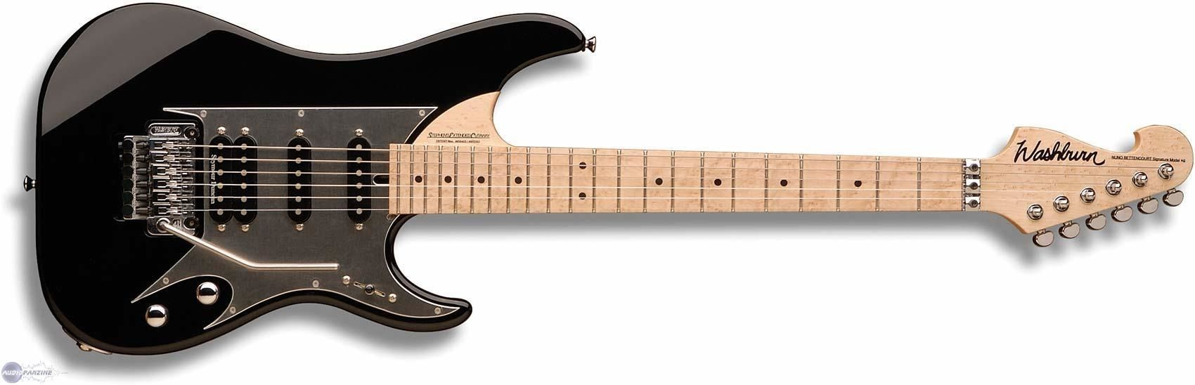 The Washburn N6 came out in 2005. Nuno an accomplished guitar player was looking for more diversity in his sound so he and Washburn set out to make a stratty version of the Nuno signature model.