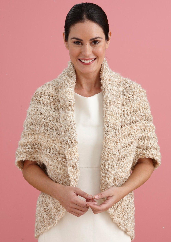 Simple Crochet Shrug   beige cardigan   Pinterest   Tejido, Boleros ...