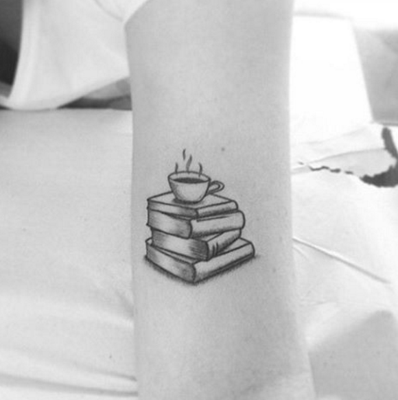 13 Tattoos Every Coffee Lover Needs   Cup tattoo, Coffee cup