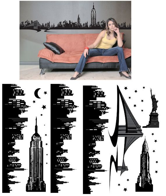 Art Applique New York Wall Sticker