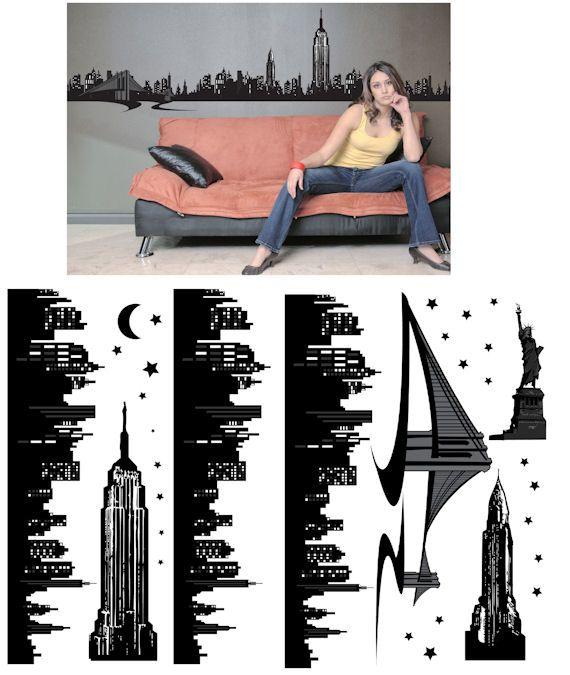 Art Applique New York Wall Sticker - Wall Sticker Outlet ...