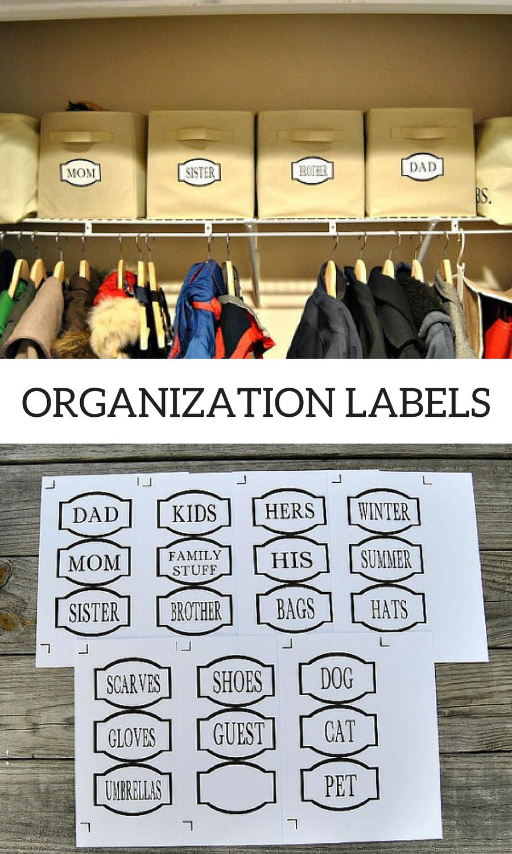 Pdf Entryway Labels Coat Closet Labels Printable Organization Labels Coat Closet Organization Closet Labels Mudroom Instant Download Organization Affi