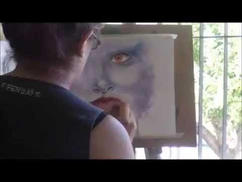 Rostro en acuarelas / Watercolors face speedpainting