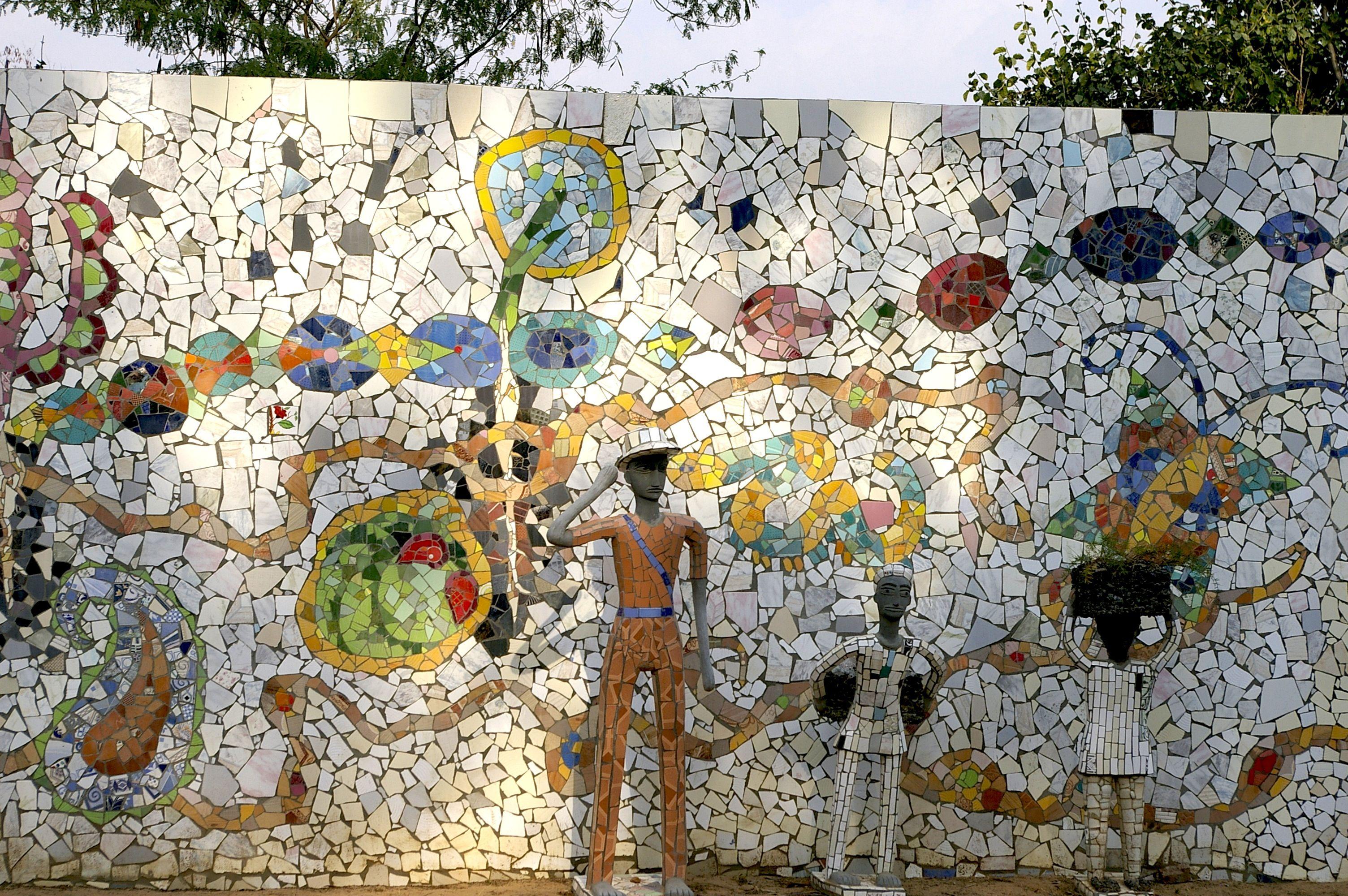 Mosaics At The Rock Garden Chandigarh Creative Art Mosaic Art