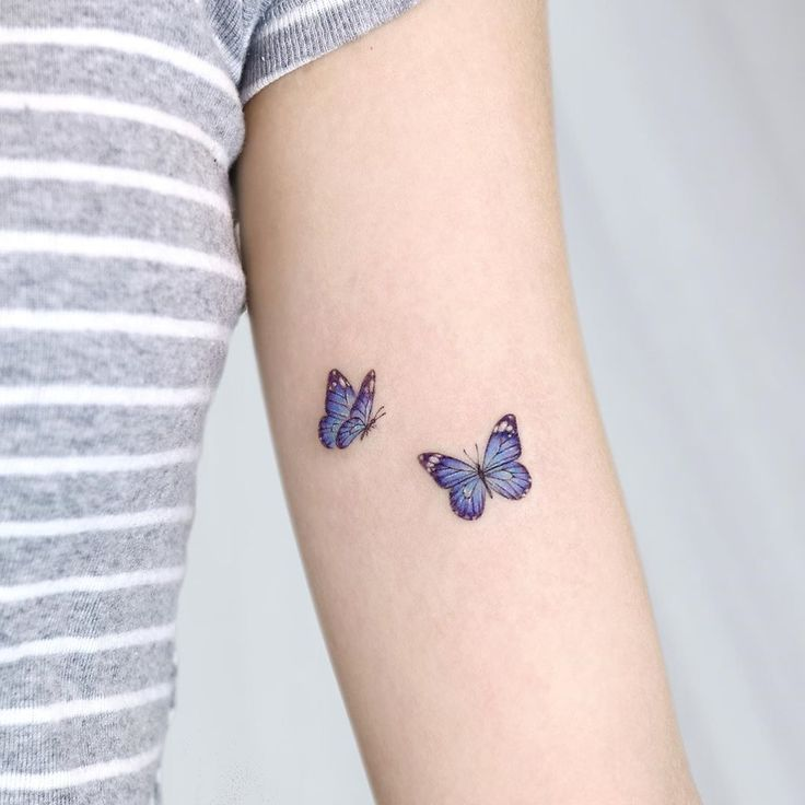 65 Cute Butterfly Tattoo Designs Butterfly Is A Popular Tattoo Idea For Women It Is Loved For Its Cute S In 2020 Butterfly Tattoos For Women Purple Tattoos Tattoos