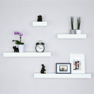 Ballucci Modern 4 Piece Floating Shelf Set | Wayfair.ca
