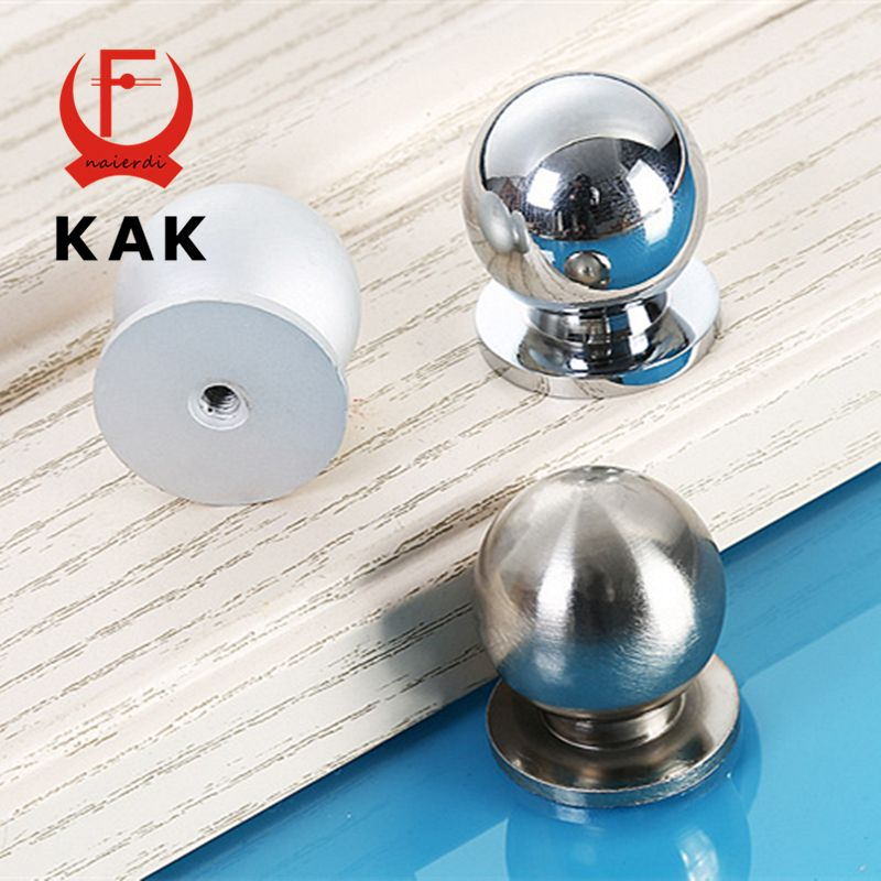 Wardrobe Drawer Door Aluminium Alloy Pull Handle Knob Silver Tone 4pcs