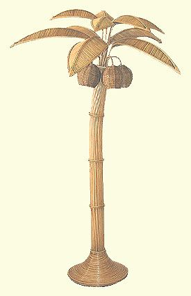 Natural Tree Floor Lamp, Palm Tree Lamps: Natural/Natural/Natural Floor Lamp