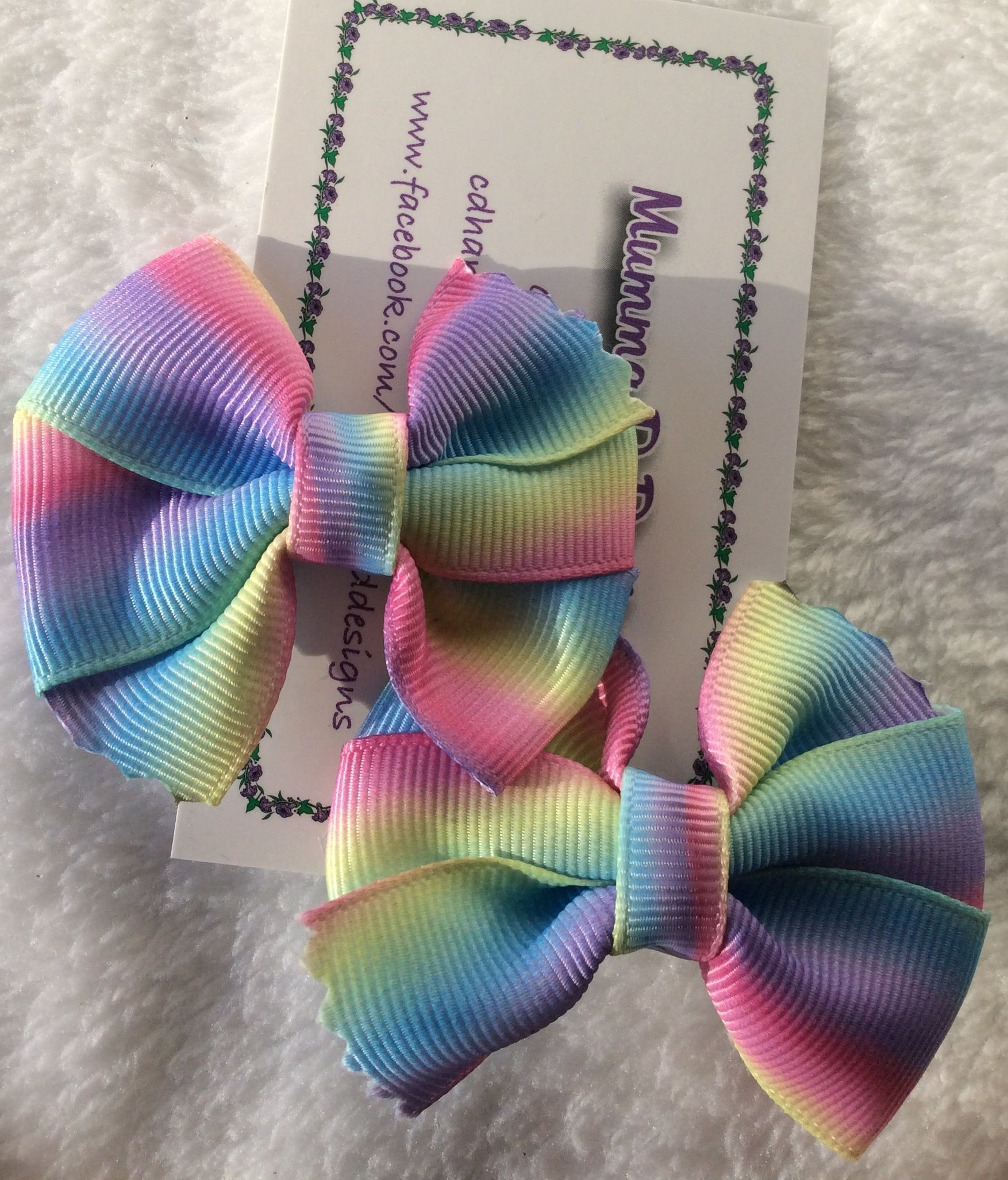 Jemlana/'s handmade stitch ribbon hair ties for school girls...