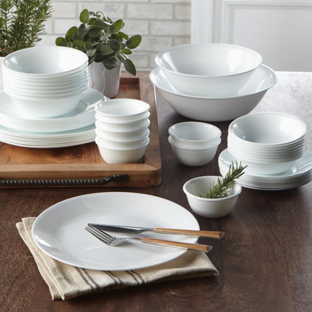Winter Frost White 6-piece Dinnerware Set, Service for 6