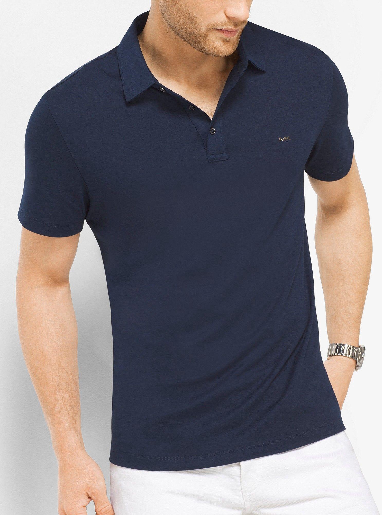 a888e3ac8c955 Michael Kors Cotton Polo Shirt - Heather Grey Xxl