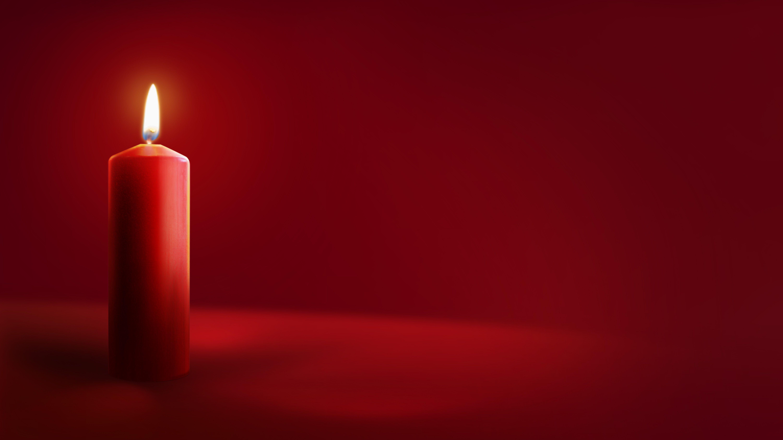 الشمعة الحمراء الخلفية Candle Background Pillar Candles Flameless Candle