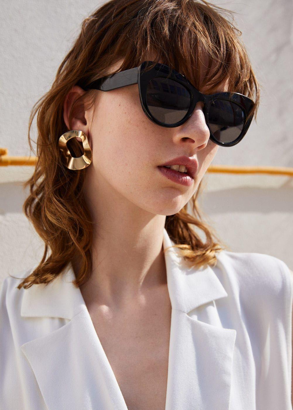 a28c6c3939 Lunettes de soleil cat-eye - Femme | Glasses | Lunettes de Soleil ...