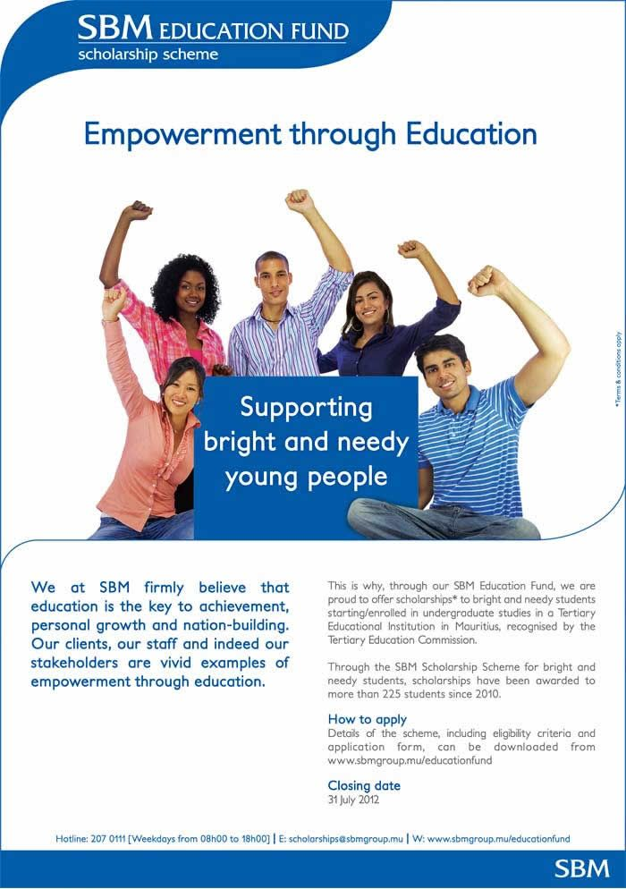 Sbm Scholarship Scheme For Bright And Needy Students Info 207 0111 Education Funding Scholarships Student Info