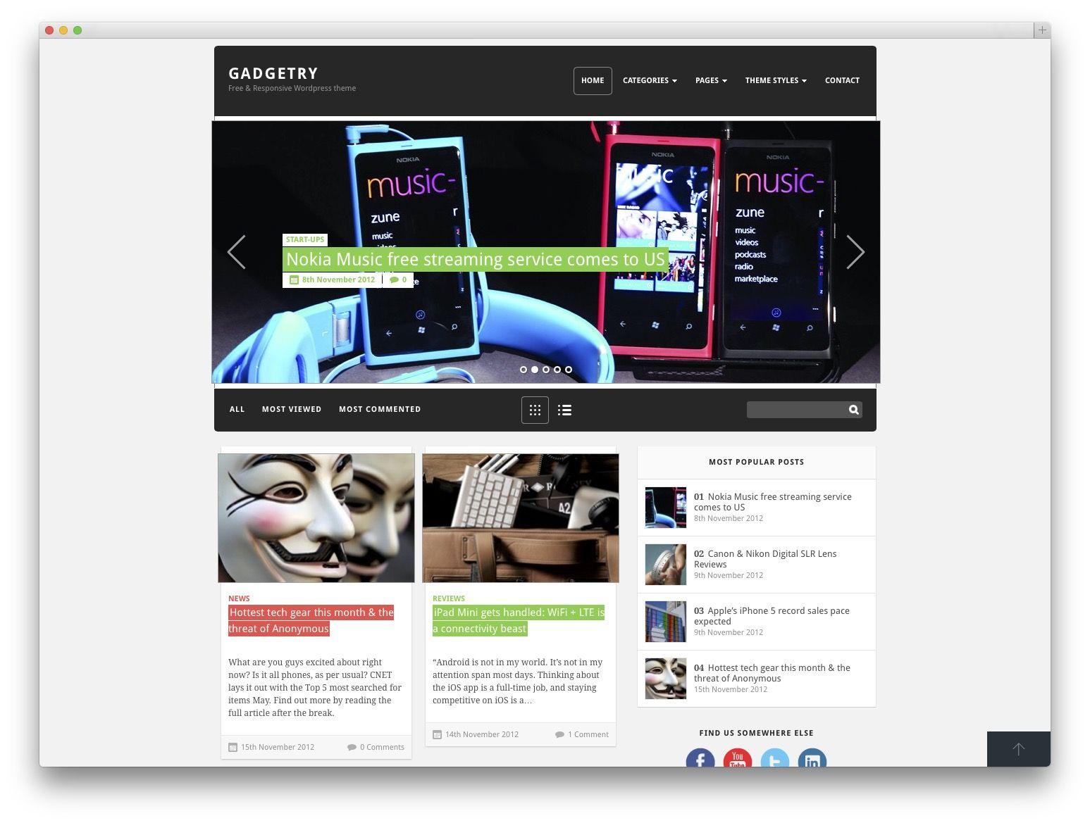 GADGETRY WordPress template SEO FRIENDLY \