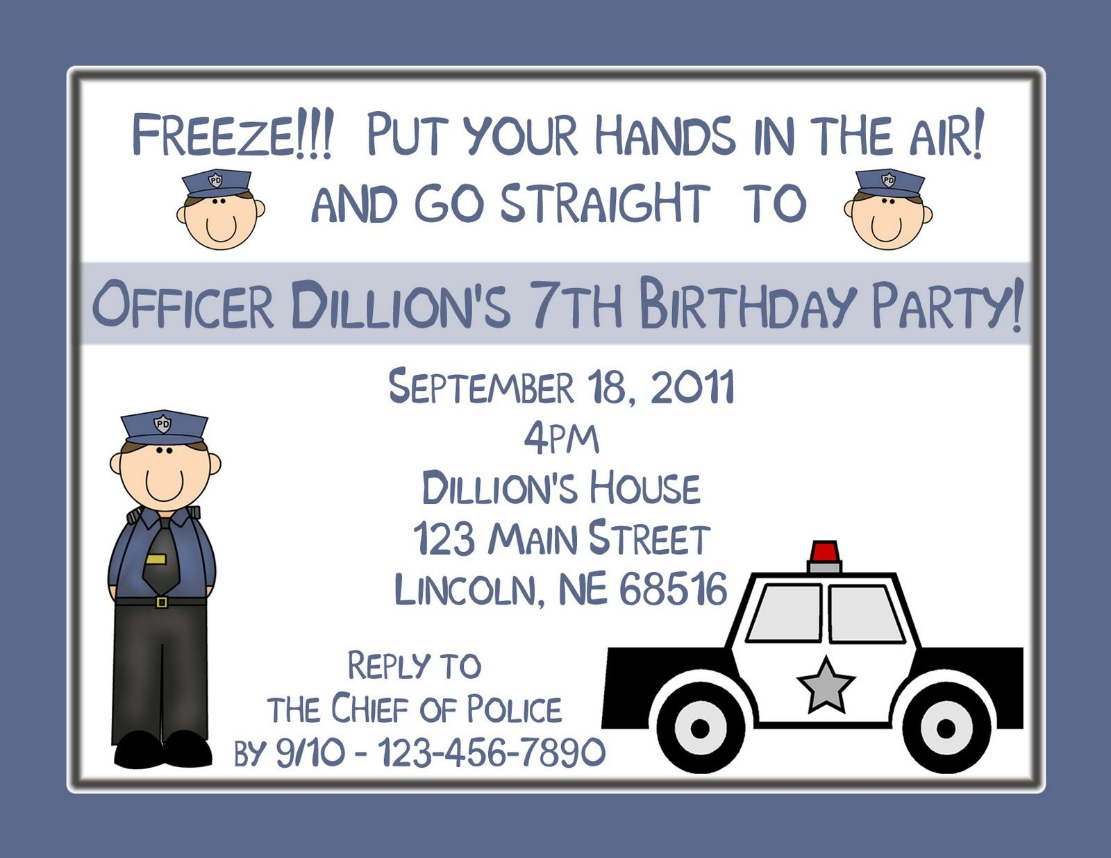Picture Perfect Party Place POLICE BIRTHDAY PARTY THEME