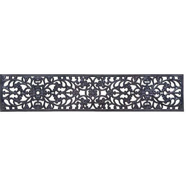Improvements Windsor Scroll Black Rubber Extra-Wide Stair Tread-10 ...