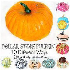 fall decor pumpkin halloween dolar store, crafts, halloween decorations, seasonal holiday decor