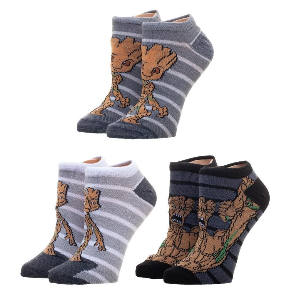 6691f8f0db82 3 Pairs I AM GROOT Ankle Socks Size 9-11 Pack Guardians of the Galaxy Baby  Pot  Bioworld  AnkleHigh