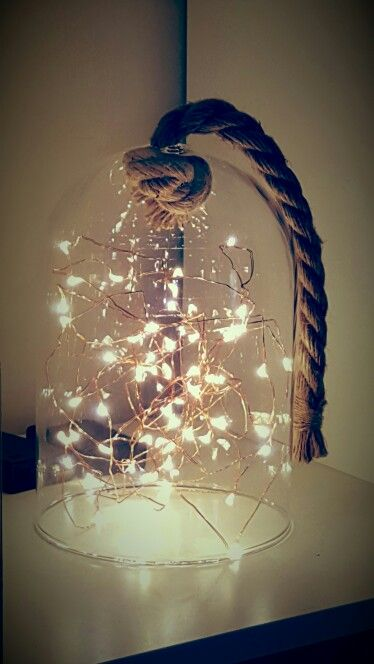 Kmart twinkle lights and the rope bell jar | Room ideas ...