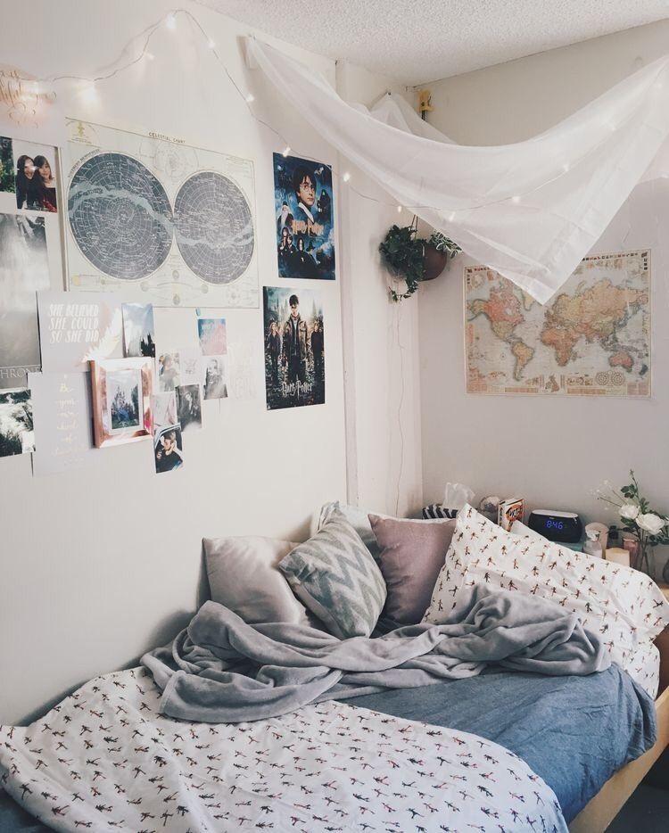 Pin von hannah auf interior schlafzimmer schlafzimmer ideen und wohnheim zimmer - Kinderzimmer hannah ...