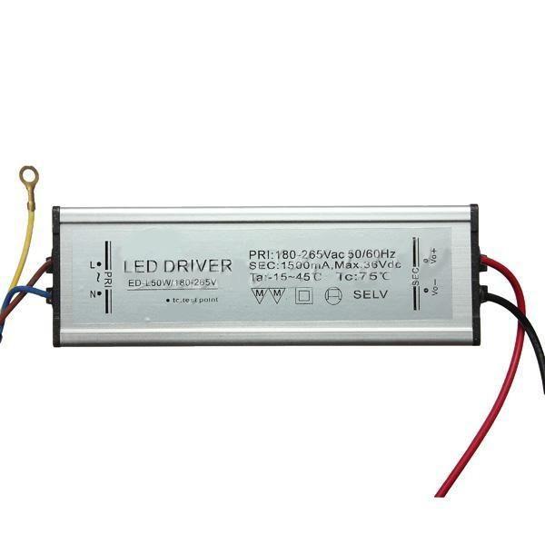 50W 50-60HZ High Power LED Driver Waterproof IP65 AC85V ...