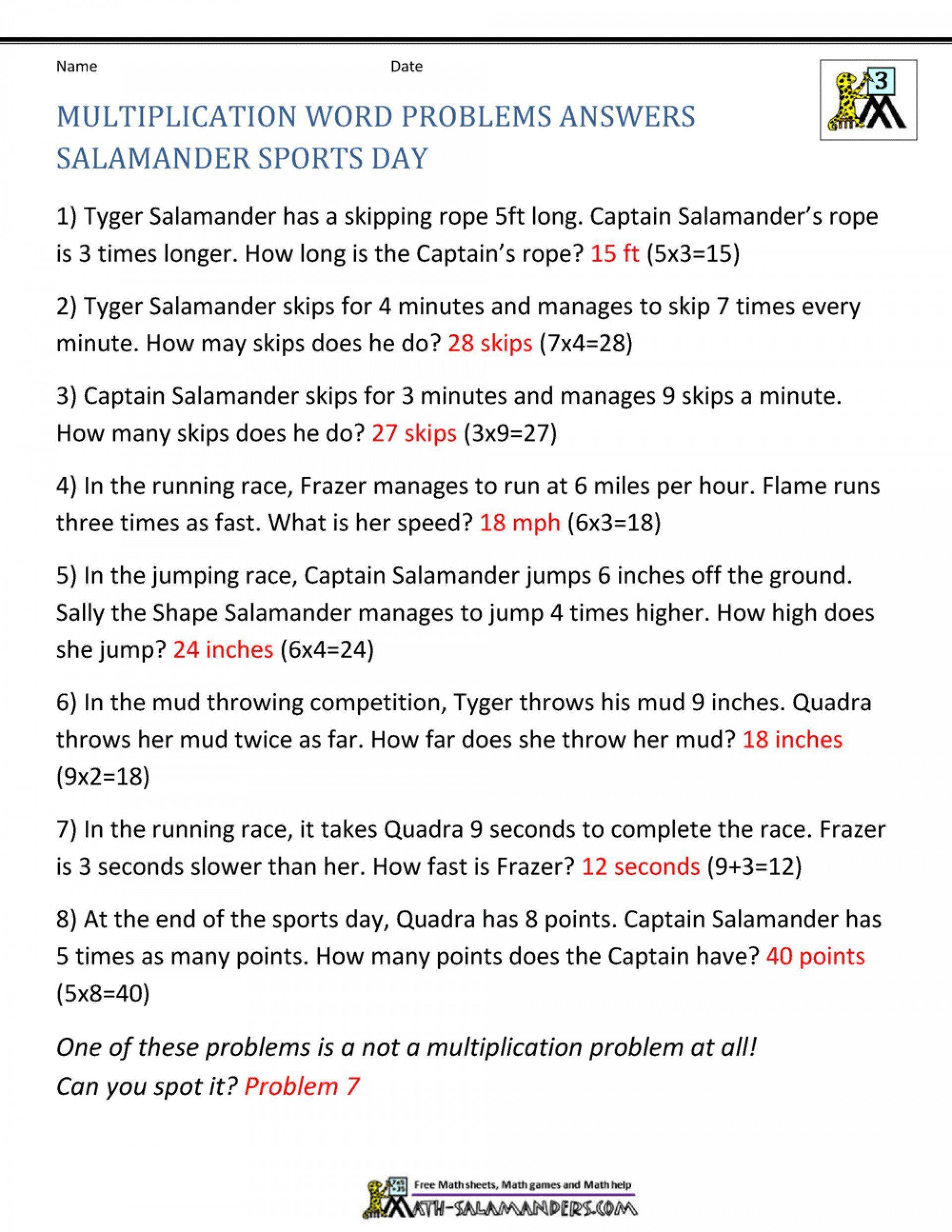 Salamander Math Worksheet Math Salamanders Worksheet In