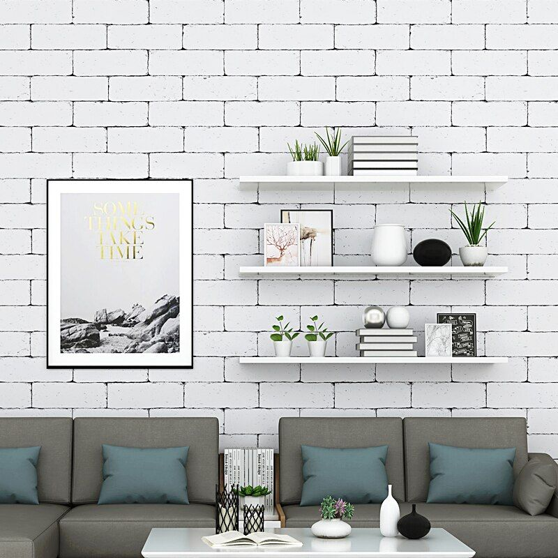 Vintage White 3d Brick Wallpaper Nordic Waterproof Wall Paper Roll For Shop Bar Background Walls Contact Paper Carta Da Parati Wallpapers Aliexpress Brick Wallpaper White Brick Wallpaper White Brick